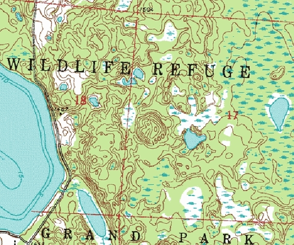 Old Indian Trail - Topographic Map